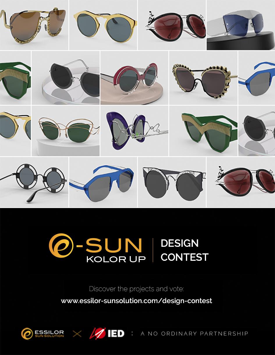 e sun kolor up design contest essilor sun solution