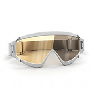 Brown ski goggles lenses