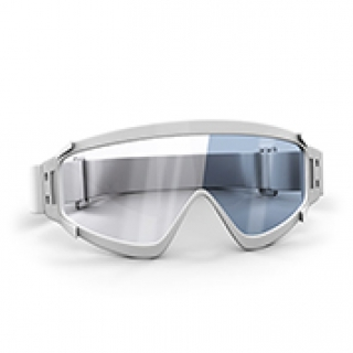 Grey ski goggles lenses