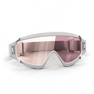 Copper ski goggles lenses